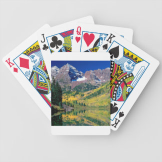 Park Maroon Bells White River Forest Bicycle Playing Cards