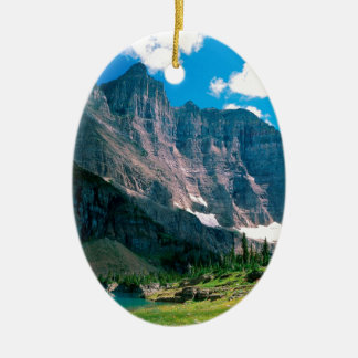 Park Near Iceberg Lake Glacier Montana Ceramic Ornament