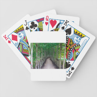 Park Path Bicycle Playing Cards