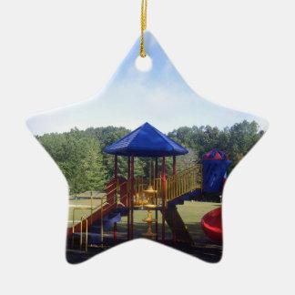 Park Playground Ceramic Ornament