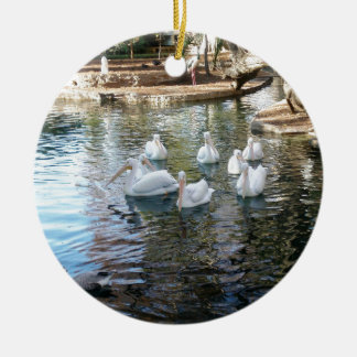 Park Pond Round Ceramic Ornament