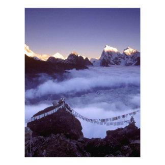 Park Prayer Flags On Everest Nepal Custom Letterhead