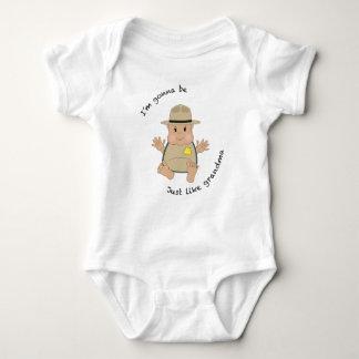 Park ranger grandma baby bodysuit