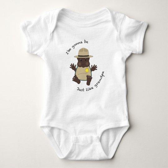 Park ranger grandpa baby bodysuit