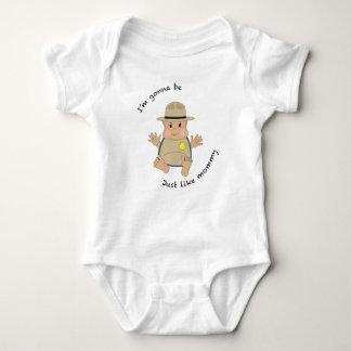 Park ranger mommy baby bodysuit