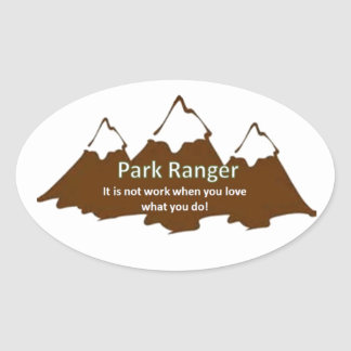 Park Ranger Oval Sticker