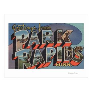 Park Rapids, Minnesota - Large Letter Scenes Postcard