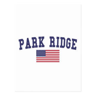 Park Ridge US Flag Postcard