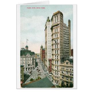 Park Row, New York Card