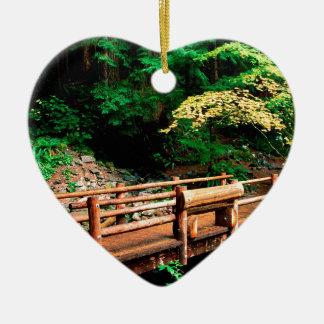 Park Sol Duc Falls Trail Olympic Ceramic Heart Ornament