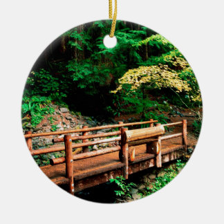 Park Sol Duc Falls Trail Olympic Round Ceramic Ornament
