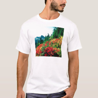 Park Subalpine Meadows At Paradise Mt Rainier T-Shirt