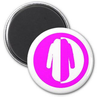 Parka Power + pink 2 Inch Round Magnet