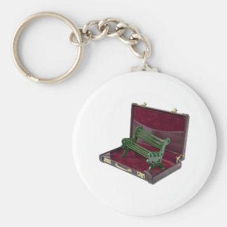 ParkBenchInBriefcase123111 Keychain