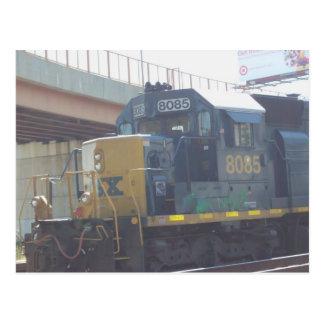 Parked Locomotive Postcard
