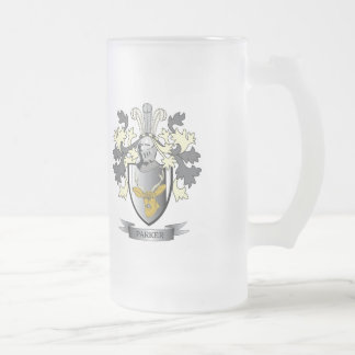 Parker Coat of Arms Frosted Glass Beer Mug