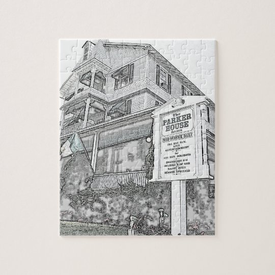 Parker House Sketch - Jersey Shore Jigsaw Puzzle