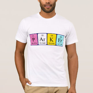 Parker periodic table name shirt