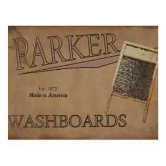 Parker Washboards Postcard