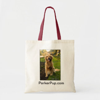 ParkerPup tote with red handle