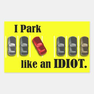 Parking Idiot Sticker