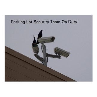 Parking Lot Security Postcard