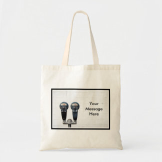 Parking Meters and Blank City Wall Tote Bag