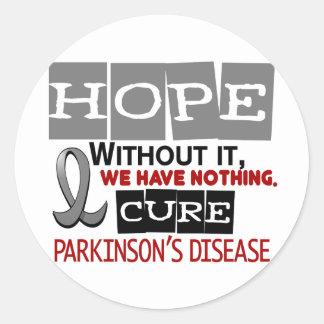 Parkinson's Disease HOPE 2 Round Sticker