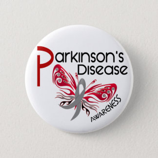 Parkinsons Disease BUTTERFLY 3.1 2 Inch Round Button