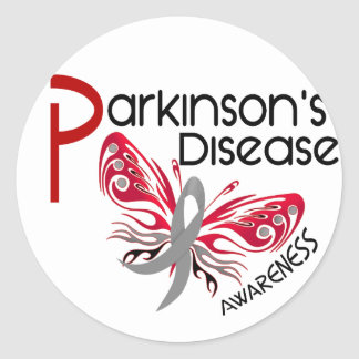 Parkinsons Disease BUTTERFLY 3.1 Round Sticker