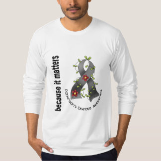 Parkinsons Disease Flower Ribbon 3 T-Shirt