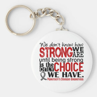 Parkinson's Disease How Strong We Are Basic Round Button Keychain