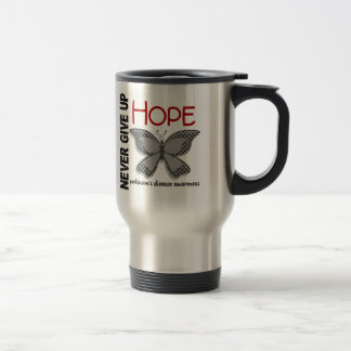 Parkinson's Disease Never Give Up Hope Butterfly 4 Travel Mug