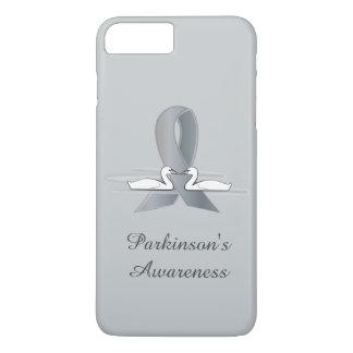 Parkinson's Disease Silver Ribbon with Swans iPhone 7 Plus Case