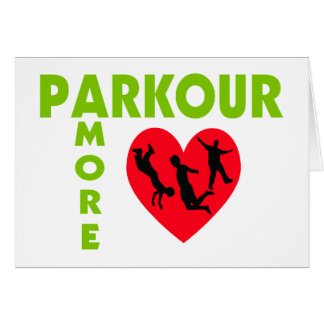 Parkour Amore With Heart Card