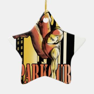 parkour ceramic ornament