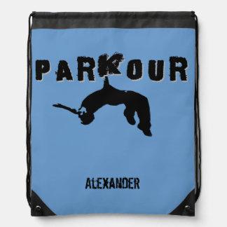 Parkour cinch sack backpack