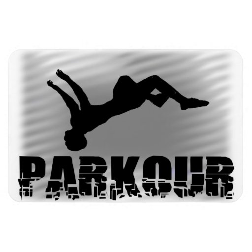 Parkour Gymnast Vinyl Magnet
