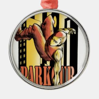 parkour metal ornament