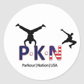 Parkour Nation USA Sticker