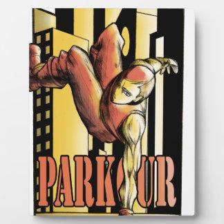 parkour plaque