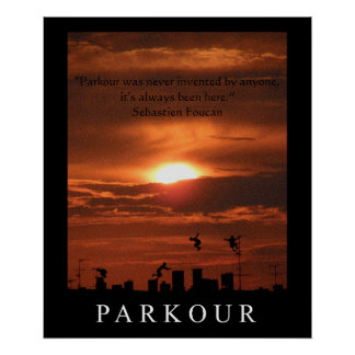 Parkour Quote Poster