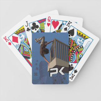 Parkour Rail Flip Bicycle Playing Cards