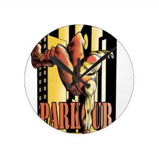parkour round clock