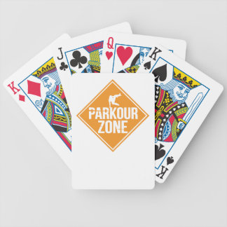 Parkour Runaway Extreme Sports Stunt Free Running Bicycle Playing Cards