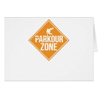 Parkour Runaway Extreme Sports Stunt Free Running Card