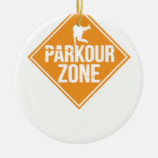 Parkour Runaway Extreme Sports Stunt Free Running Ceramic Ornament