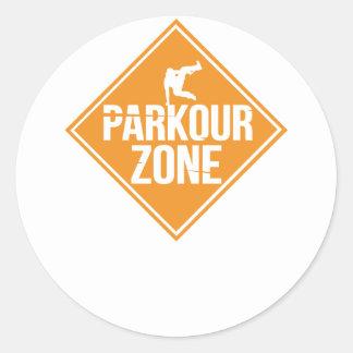 Parkour Runaway Extreme Sports Stunt Free Running Classic Round Sticker