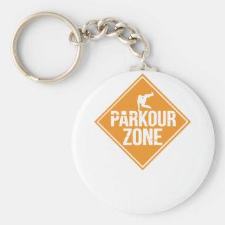 Parkour Runaway Extreme Sports Stunt Free Running Keychain