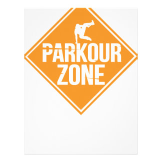 Parkour Runaway Extreme Sports Stunt Free Running Letterhead
